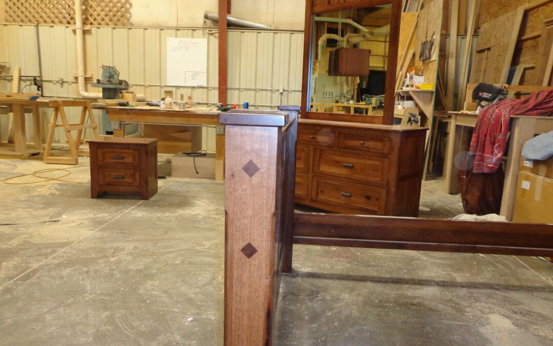Rustic Hickory Bedroom Set