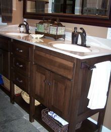 Furniture Style Vanity and Towel Cubby