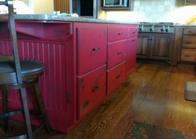 Red Distressed Island