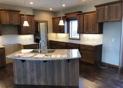 Hickory Shaker Style Kitchen with granite countertops