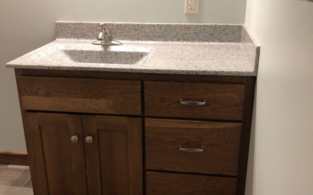 Hickory Shaker Offset Bath Cabinet