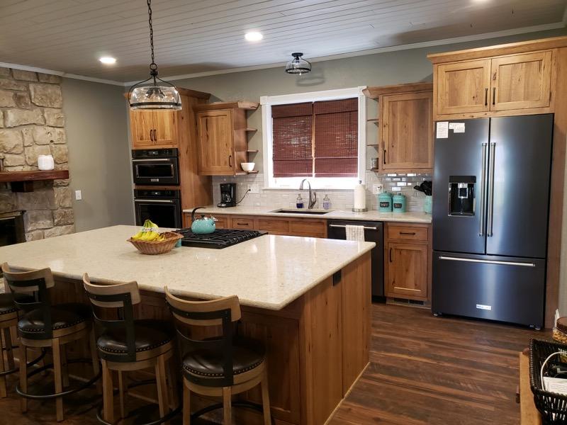 Rustic Hickory Farmhouse Kitchen