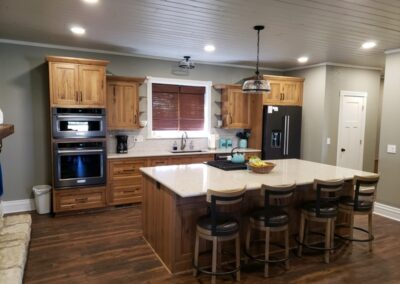 Inset Rustic Hickory Kitchen