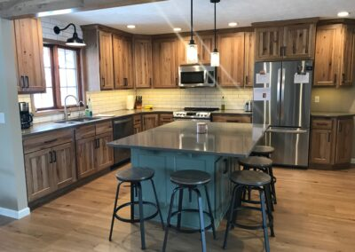 Rustic Hickory Farmhouse Kitchen